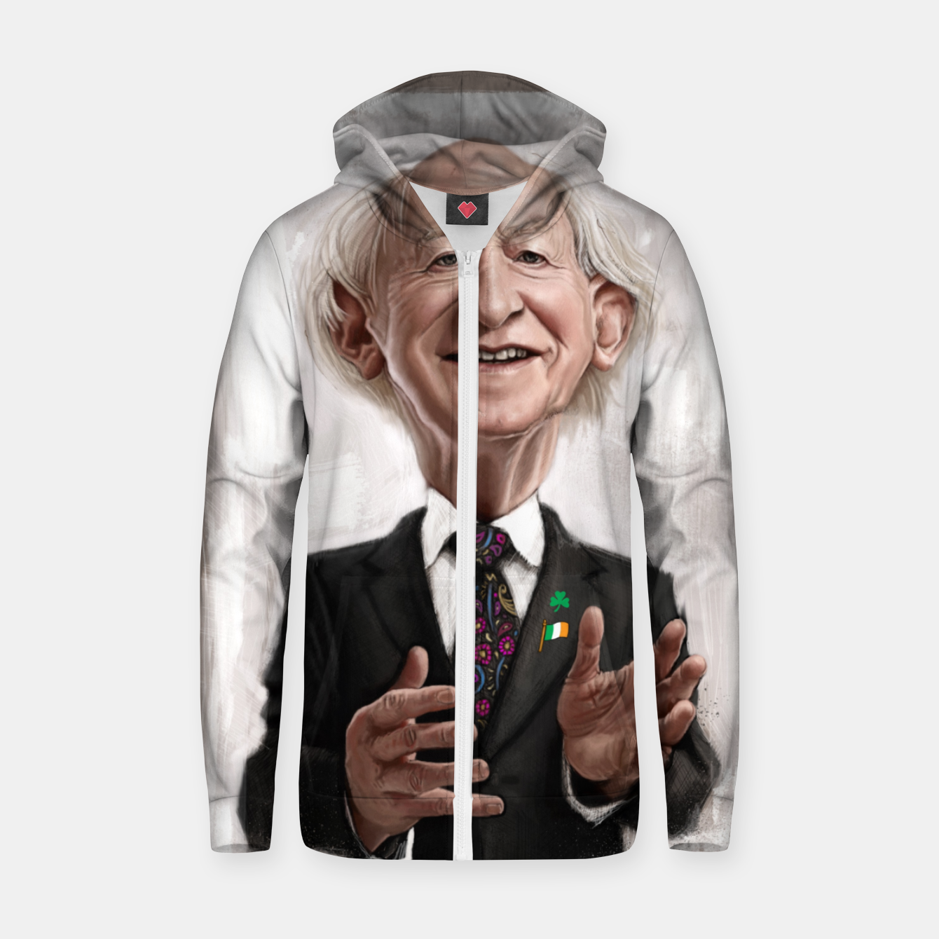 Image of MD Higgins Cotton zip up hoodie - Live Heroes