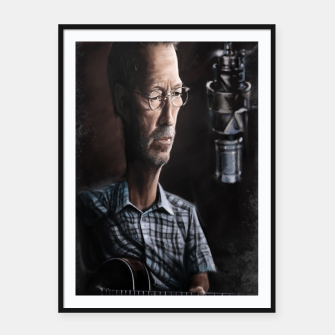 Thumbnail image of Eric Clapton I Framed poster, Live Heroes