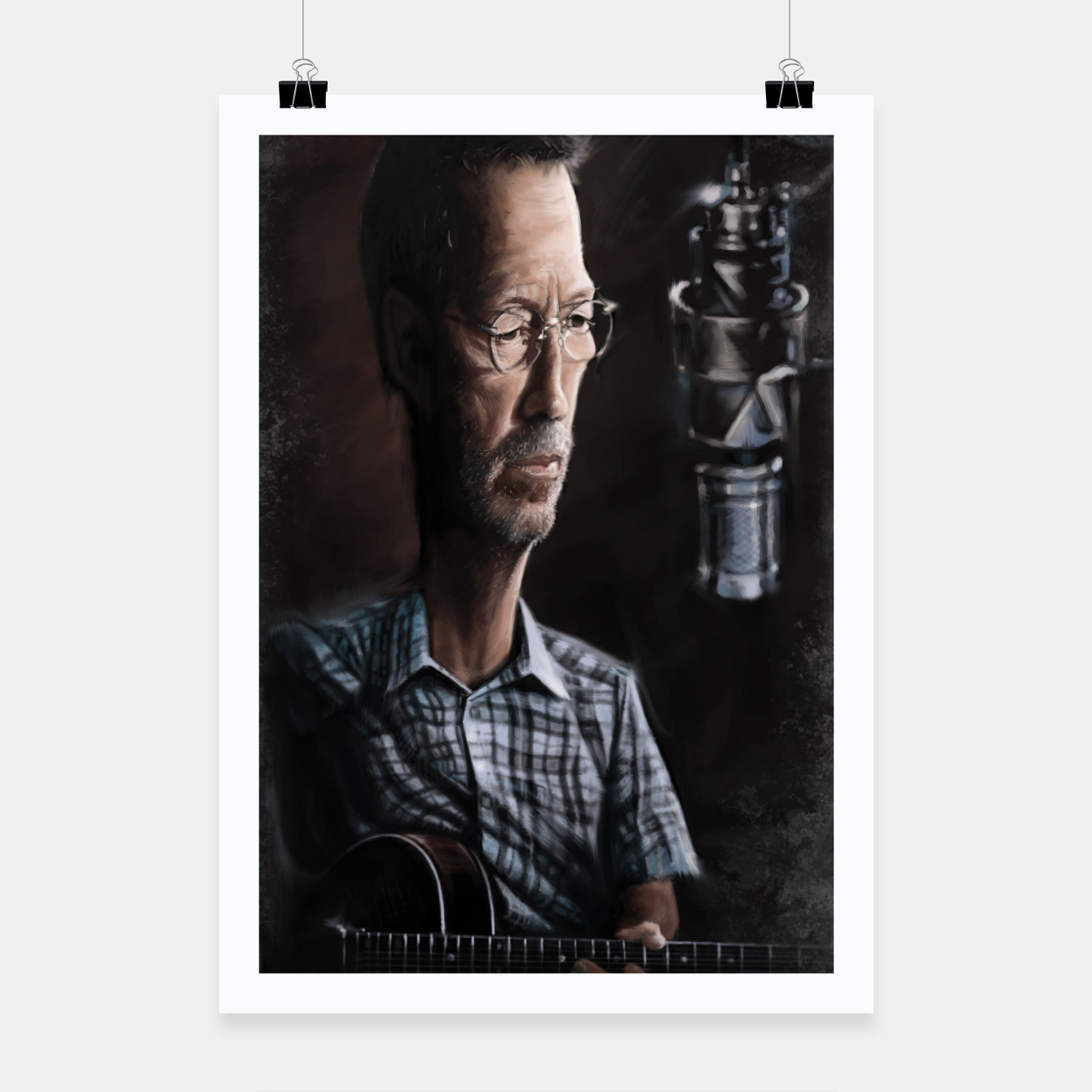 Image of Eric Clapton I Poster - Live Heroes