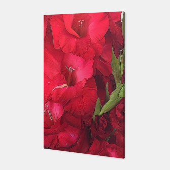 Imagen en miniatura de Red Gladiolas on Rustic White Canvas, Live Heroes