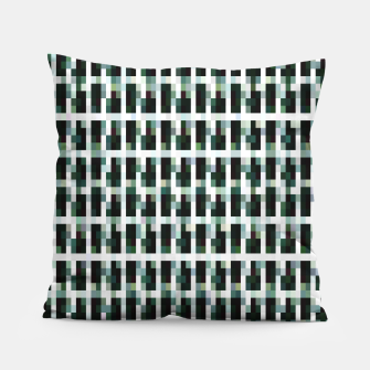 Thumbnail image of Khaki pixelated pattern Pillow, Live Heroes