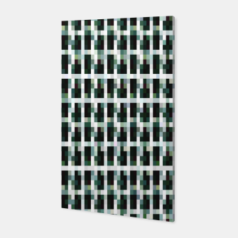 Thumbnail image of Khaki pixelated pattern Canvas, Live Heroes