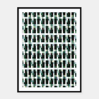 Thumbnail image of Khaki pixelated pattern Framed poster, Live Heroes