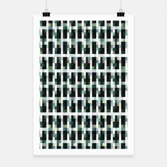 Thumbnail image of Khaki pixelated pattern Poster, Live Heroes