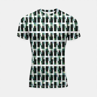 Thumbnail image of Khaki pixelated pattern Shortsleeve rashguard, Live Heroes