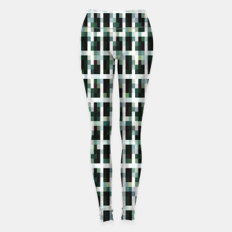 Thumbnail image of Khaki pixelated pattern Leggings, Live Heroes