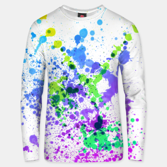 Thumbnail image of Multicolor Madness - Abstract Splatter Art Unisex sweater, Live Heroes