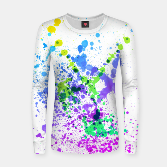 Thumbnail image of Multicolor Madness - Abstract Splatter Art Women sweater, Live Heroes