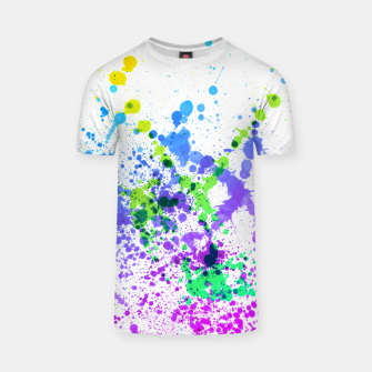 Thumbnail image of Multicolor Madness - Abstract Splatter Art T-shirt, Live Heroes