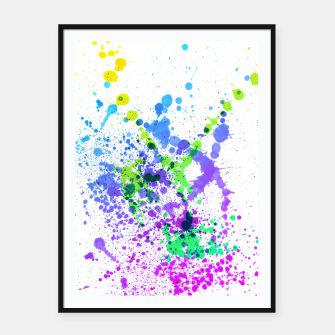 Thumbnail image of Multicolor Madness - Abstract Splatter Art Framed poster, Live Heroes