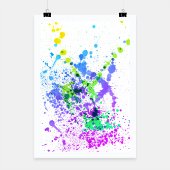 Thumbnail image of Multicolor Madness - Abstract Splatter Art Poster, Live Heroes