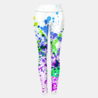 Thumbnail image of Multicolor Madness - Abstract Splatter Art Leggings, Live Heroes