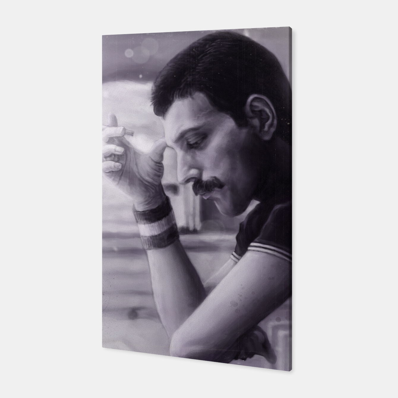 Image of Freddie Mercury Canvas - Live Heroes