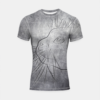 Line Art Cat Metallic Shortsleeve rashguard thumbnail image