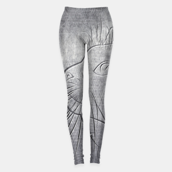 Imagen en miniatura de Line Art Cat Metallic Leggings, Live Heroes