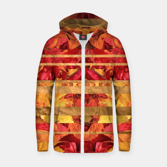 Autumn moods Cotton zip up hoodie thumbnail image