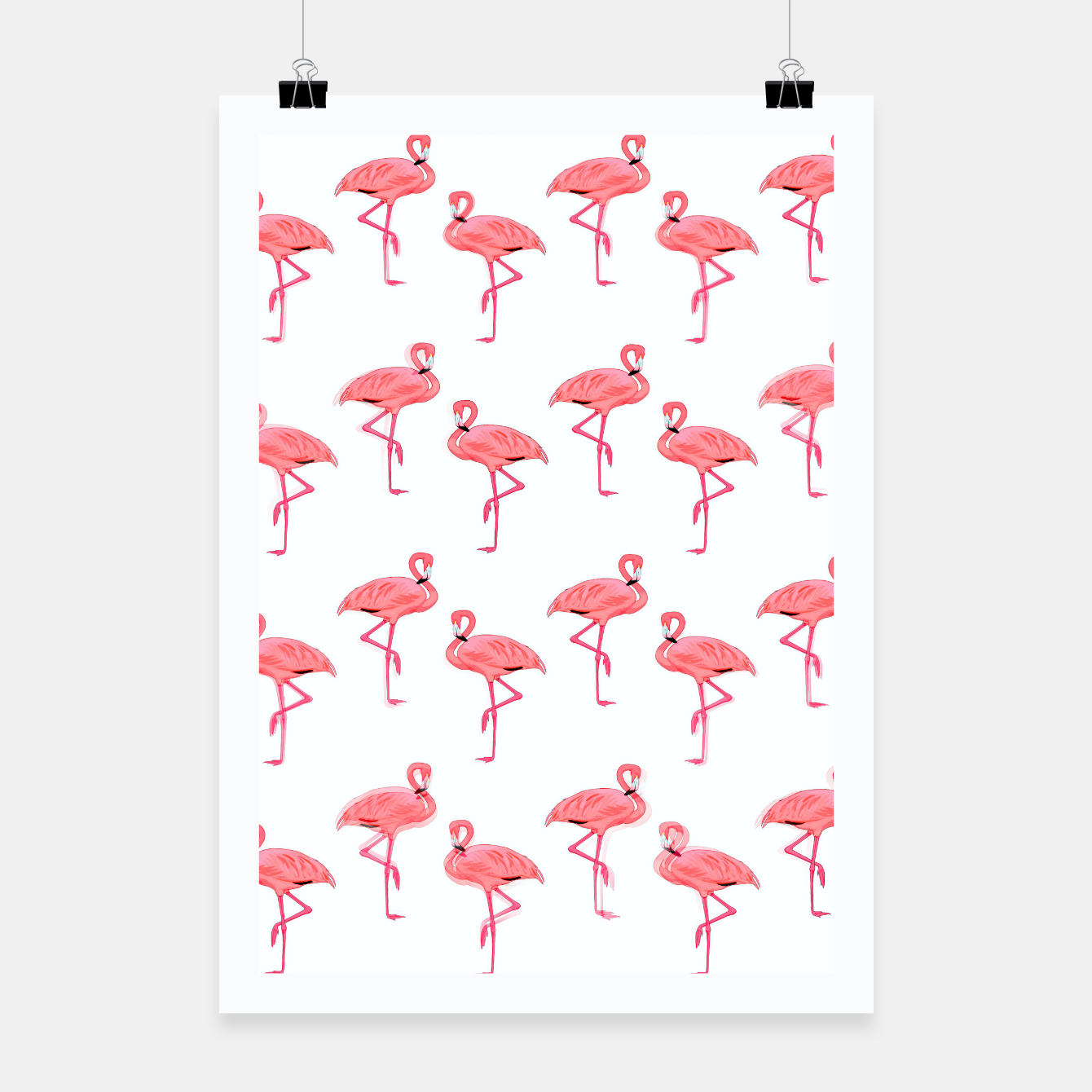 Image of Classic Pink Flamingo Pattern Poster - Live Heroes