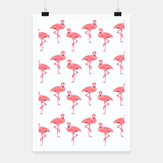 Thumbnail image of Classic Pink Flamingo Pattern Poster, Live Heroes