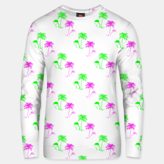 Thumbnail image of Flamingo Christmas Pattern Palm Trees Unisex sweater, Live Heroes