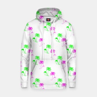 Thumbnail image of Flamingo Christmas Pattern Palm Trees Hoodie, Live Heroes