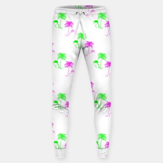 Thumbnail image of Flamingo Christmas Pattern Palm Trees Sweatpants, Live Heroes