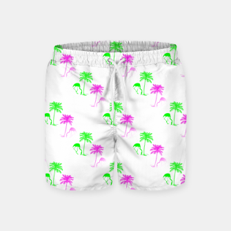 Thumbnail image of Flamingo Christmas Pattern Palm Trees Swim Shorts, Live Heroes