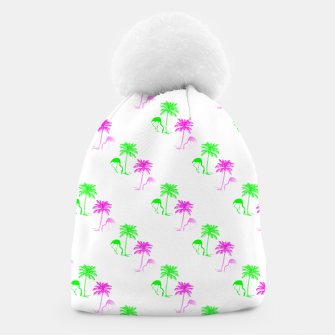 Thumbnail image of Flamingo Christmas Pattern Palm Trees Beanie, Live Heroes