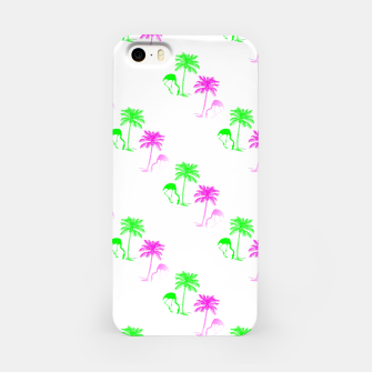Thumbnail image of Flamingo Christmas Pattern Palm Trees iPhone Case, Live Heroes