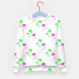 Thumbnail image of Flamingo Christmas Pattern Palm Trees Kid's sweater, Live Heroes