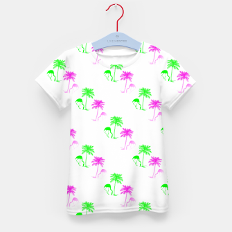 Thumbnail image of Flamingo Christmas Pattern Palm Trees Kid's t-shirt, Live Heroes