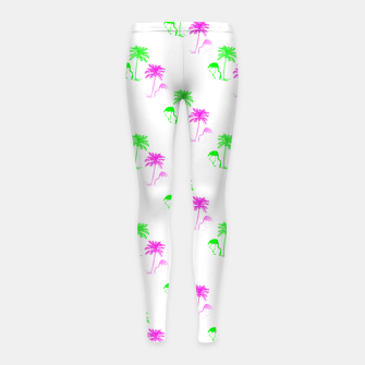 Thumbnail image of Flamingo Christmas Pattern Palm Trees Girl's leggings, Live Heroes