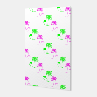 Thumbnail image of Flamingo Christmas Pattern Palm Trees Canvas, Live Heroes