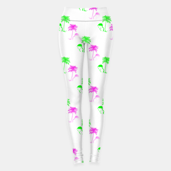Thumbnail image of Flamingo Christmas Pattern Palm Trees Leggings, Live Heroes