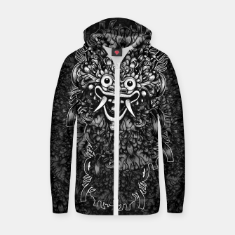 Thumbnail image of Bali Mask Cotton zip up hoodie, Live Heroes