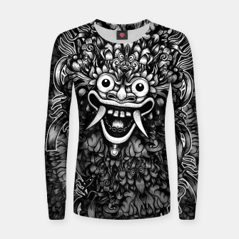 Thumbnail image of Bali Mask Woman cotton sweater, Live Heroes
