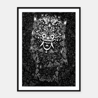 Thumbnail image of Bali Mask Framed poster, Live Heroes