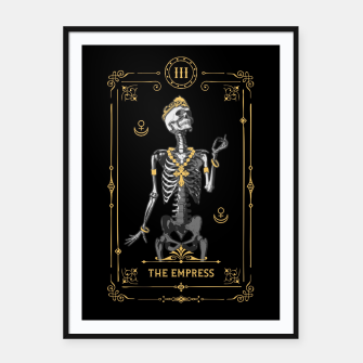 Thumbnail image of The Empress III Tarot Card Framed poster, Live Heroes