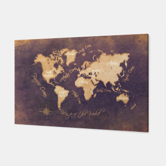 Miniaturka world map mistery Canvas, Live Heroes