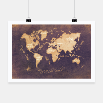 Thumbnail image of world map mistery Plakat, Live Heroes