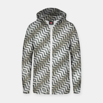Thumbnail image of Diagonal Striped Print Pattern Cotton zip up hoodie, Live Heroes