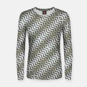 Thumbnail image of Diagonal Striped Print Pattern Woman cotton sweater, Live Heroes