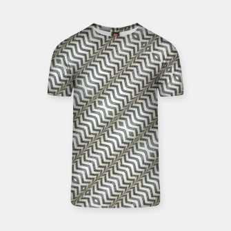 Thumbnail image of Diagonal Striped Print Pattern T-shirt, Live Heroes