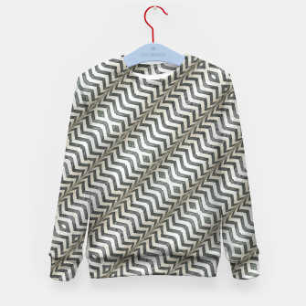 Thumbnail image of Diagonal Striped Print Pattern Kid's sweater, Live Heroes