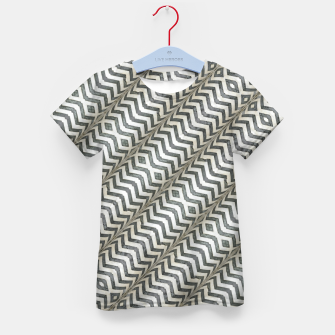 Thumbnail image of Diagonal Striped Print Pattern Kid's t-shirt, Live Heroes