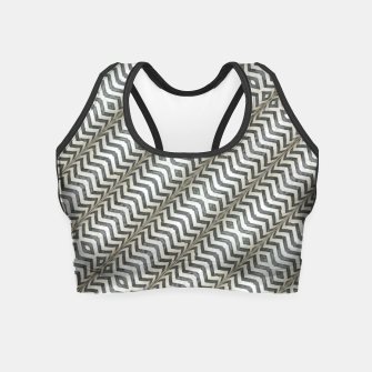 Thumbnail image of Diagonal Striped Print Pattern Crop Top, Live Heroes