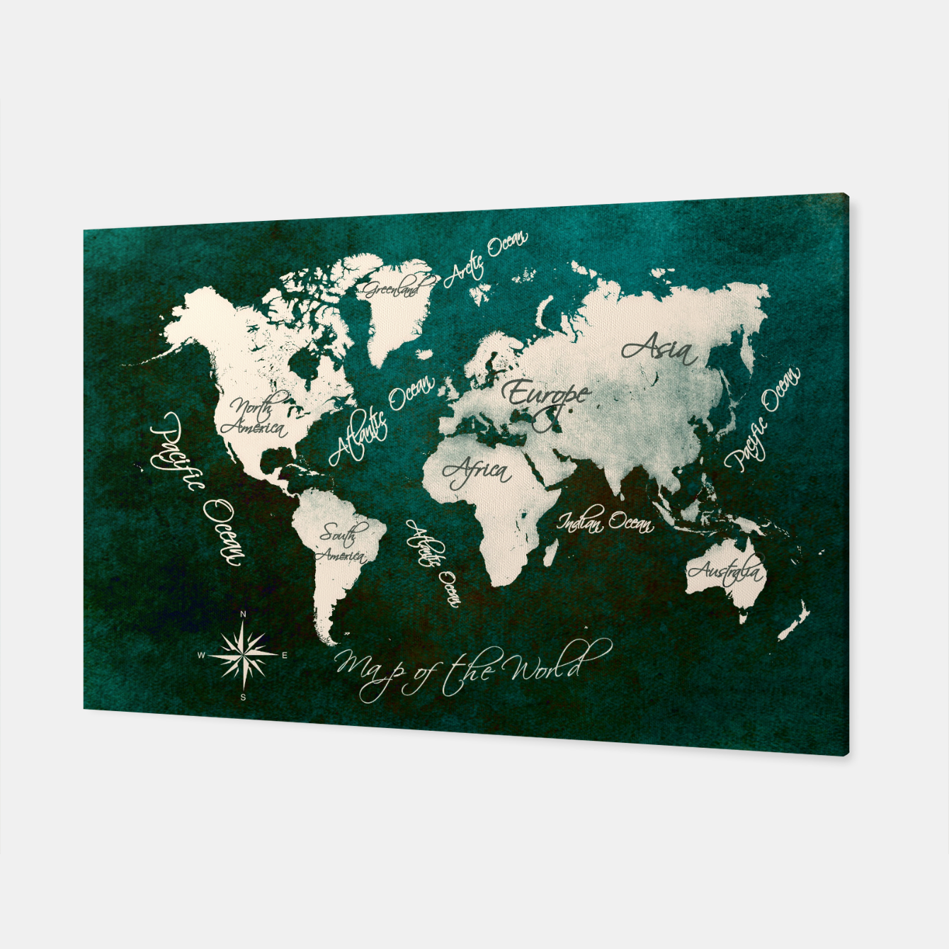 Image of world map green  Canvas - Live Heroes