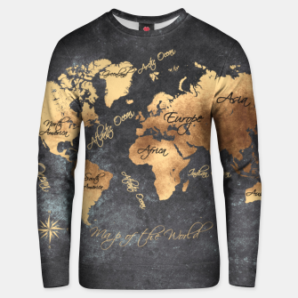 world map gold black #worldmap #map Bluza bawełniana thumbnail image