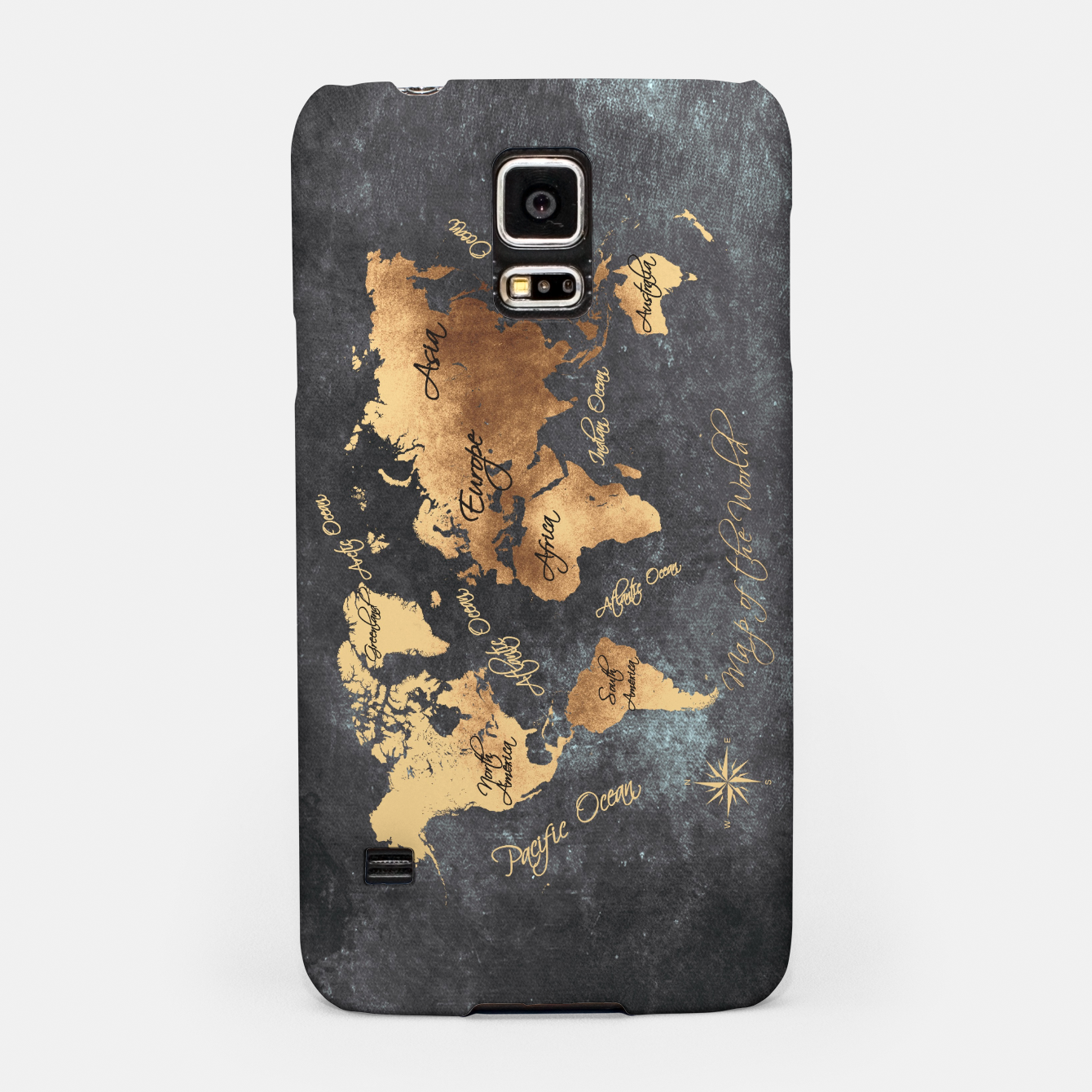 Image of world map gold black #worldmap #map Obudowa na Samsunga - Live Heroes