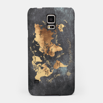 Miniaturka world map gold black #worldmap #map Obudowa na Samsunga, Live Heroes