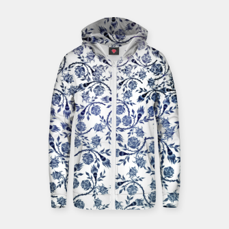 Thumbnail image of Roses Cotton zip up hoodie, Live Heroes